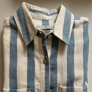7FAM Striped Shirt-Dress